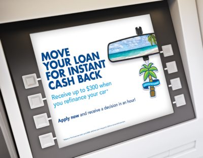credit union summer campaign on atm screen