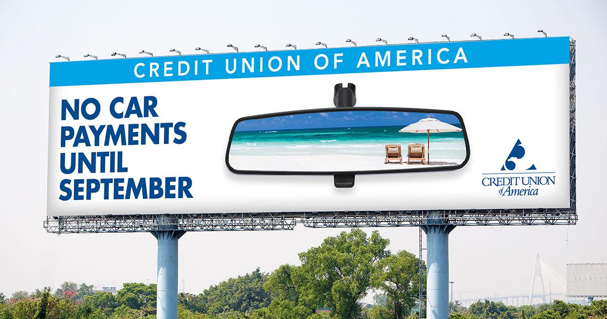 auto challenge billboard for summer travel campaign