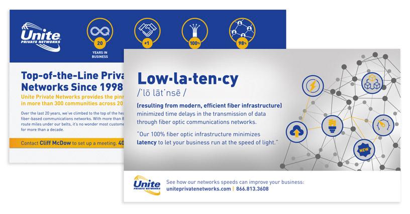 fiber optic print marketing postcard