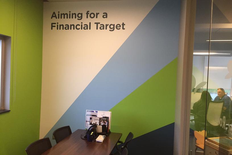 aim brand office mural