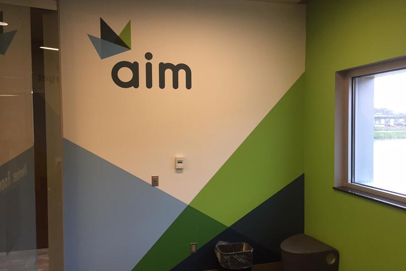 AIM Logo and Theme Mural