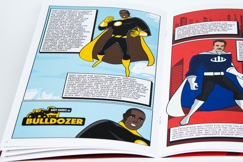 Custom Comic Marketing Material Zoomed In