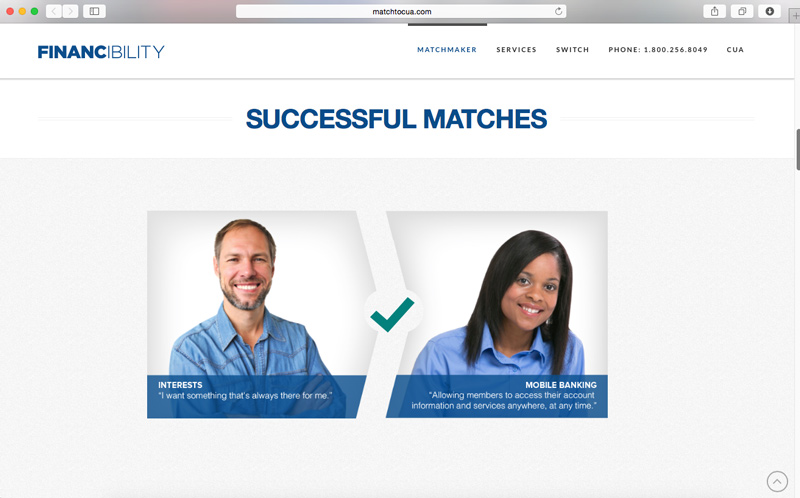 Credit union website for campaign