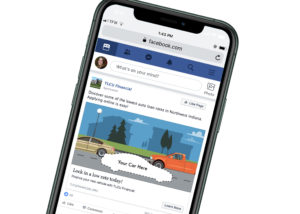 """Facebook ad """"your car here"""" for TLCU"""