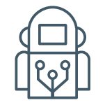 Technology robot icon