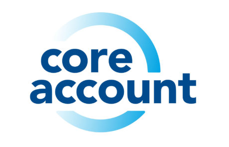blue logo with gradient ring for core account at credit union