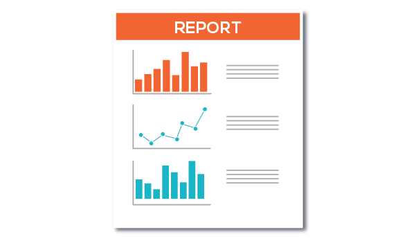 Illustration of marketing results report