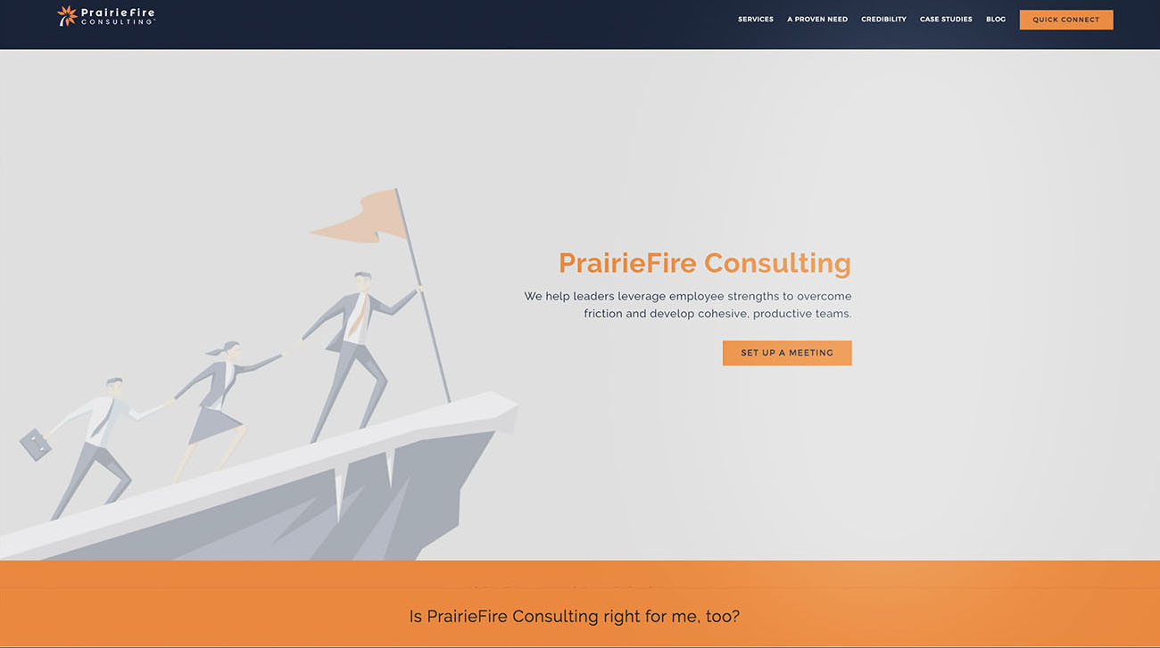 Prairie Fire Consulting landing page