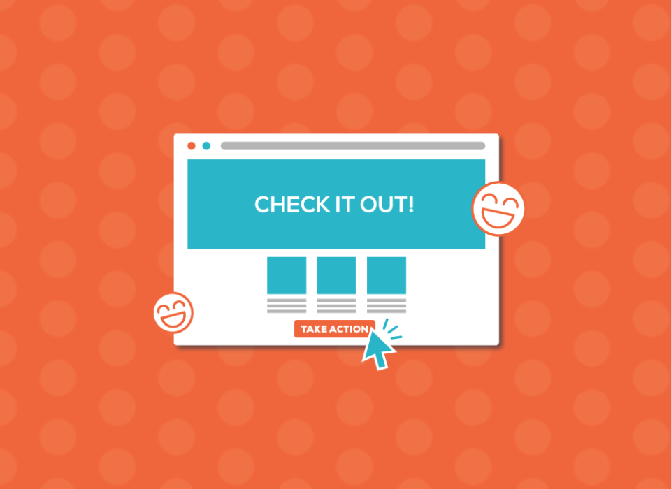 web page advertising with landing page and CTA